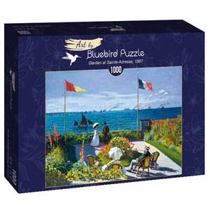 """Bluebird Puzzle (60042) - Claude Monet: """"Garden at Sainte-Adresse, 1867"""" - 1000 pièces"""