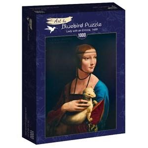 "Bluebird Puzzle (60012) - Leonardo Da Vinci: ""Lady with an Ermine, 1489"" - 1000 pièces"