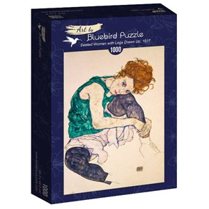 """Bluebird Puzzle (60092) - Egon Schiele: """"Seated Woman with Legs Drawn Up, 1917"""" - 1000 pièces"""
