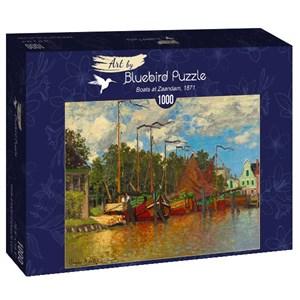 "Bluebird Puzzle (60031) - Claude Monet: ""Boats at Zaandam, 1871"" - 1000 pièces"