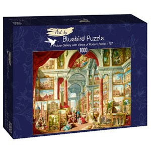 "Bluebird Puzzle (60075) - Giovanni Paolo Panini: ""Picture Gallery with Views of Modern Rome, 1757"" - 1000 pièces"