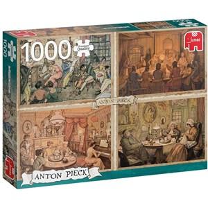 "Jumbo (18856) - Anton Pieck: ""Living Room Entertainment"" - 1000 pièces"