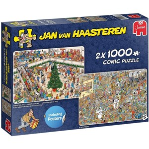 "Jumbo (20033) - Jan van Haasteren: ""Holiday Shopping"" - 1000 pièces"