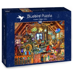 "Bluebird Puzzle (70434) - Aimee Stewart: ""Hidden Object Attic"" - 1500 pièces"