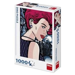 "Dino (53271) - ""Pop Art, Mysterious Woman"" - 1000 pièces"