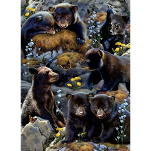 """SunsOut (56452) - Rebecca Latham: """"Bear Cubs"""" - 500 pièces"""