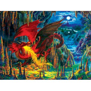 "SunsOut (59775) - Liz Goodrick-Dillon: ""Fire Dragon of Emerald"" - 500 pièces"