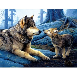 """SunsOut (60966) - Daniel Smith: """"Brother Wolf"""" - 500 pièces"""