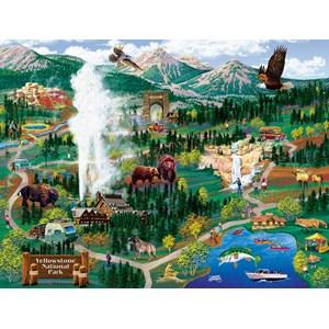 "SunsOut (38892) - Joseph Burgess: ""Yellowstone Adventures"" - 500 pièces"
