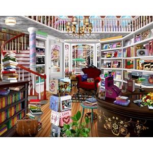 """SunsOut (31534) - Bigelow Illustrations: """"The Book Shop"""" - 1000 pièces"""