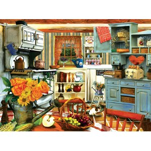 """SunsOut (28851) - Tom Wood: """"Grandma's Country Kitchen"""" - 1000 pièces"""