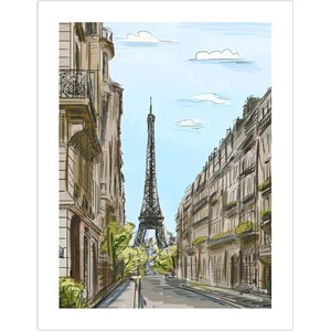 """Pintoo (h1524) - """"Street in Paris, France"""" - 300 pièces"""