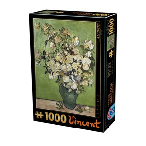 "D-Toys (75871) - Vincent van Gogh: ""Vincent Van Gogh, Pink Roser"" - 1000 pièces"