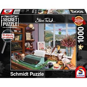 """Schmidt Spiele (59920) - Steve Read: """"At the Desk"""" - 1000 pièces"""