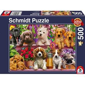 "Schmidt Spiele (58973) - ""Dogs on a Shelf"" - 500 pièces"