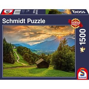 "Schmidt Spiele (58970) - ""Sunset on Wamberg"" - 1500 pièces"