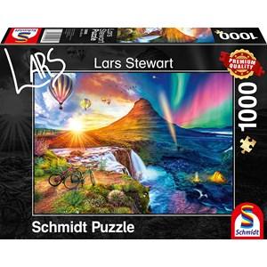 """Schmidt Spiele (59908) - Lars Stewart: """"Island, Night and Day"""" - 1000 pièces"""