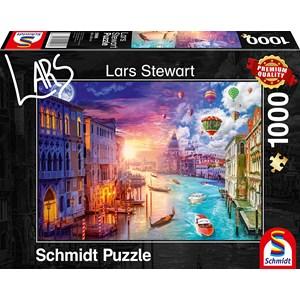 "Schmidt Spiele (59906) - Lars Stewart: ""Venice, Night and Day"" - 1000 pièces"