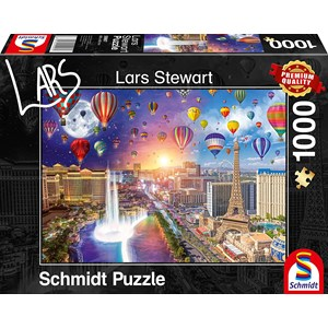 "Schmidt Spiele (59907) - Lars Stewart: ""Las Vegas, Night and Day"" - 1000 pièces"