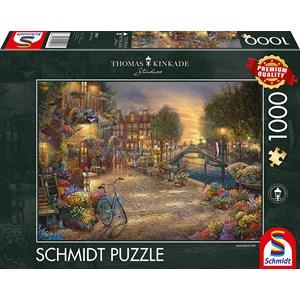 """Schmidt Spiele (59917) - Thomas Kinkade: """"Amsterdam"""" - 1000 pièces"""
