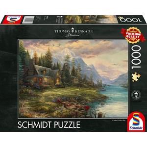 "Schmidt Spiele (59918) - Thomas Kinkade: ""Father's Day Outing"" - 1000 pièces"