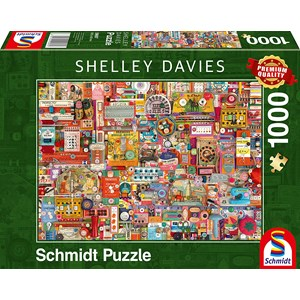 "Schmidt Spiele (59697) - Shelley Davies: ""Vintage Handmade Items"" - 1000 pièces"