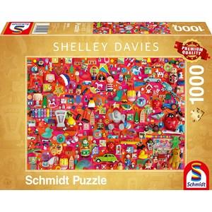 """Schmidt Spiele (59699) - Shelley Davies: """"Vintage Toys"""" - 1000 pièces"""