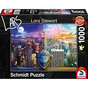 """Schmidt Spiele (59905) - Lars Stewart: """"New York, Night and Day"""" - 1000 pièces"""