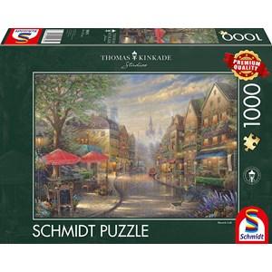 """Schmidt Spiele (59675) - Thomas Kinkade: """"Cafe in Munich"""" - 1000 pièces"""