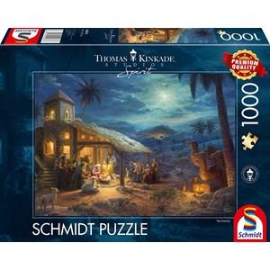 "Schmidt Spiele (59676) - Thomas Kinkade: ""Spirit, Jesus' Birt"" - 1000 pièces"