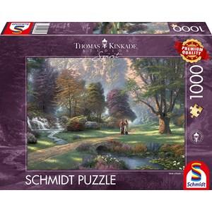 """Schmidt Spiele (59677) - Thomas Kinkade: """"Spirit, Way of Faith"""" - 1000 pièces"""