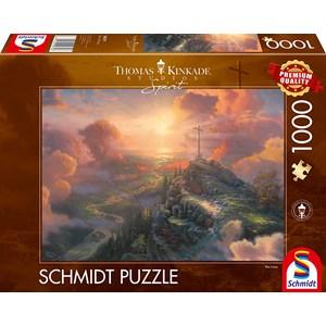 """Schmidt Spiele (59679) - Thomas Kinkade: """"Spirit, The Cross"""" - 1000 pièces"""
