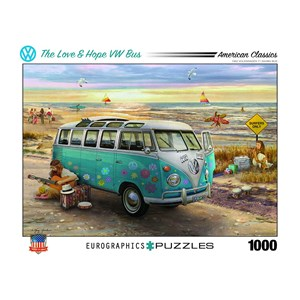 """Eurographics (6000-5310) - Greg Giordano: """"The Love & Hope VW Bus"""" - 1000 pièces"""