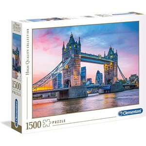 """Clementoni (31816) - """"Tower Bridge Sunset"""" - 1500 pièces"""