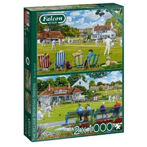 """Falcon (11309) - Trevor Mitchell: """"The Village Sporting Greens"""" - 1000 pièces"""