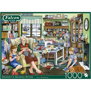 "Falcon (11273) - Fiona Osbaldstone: ""Granny's Sewing Room"" - 1000 pièces"
