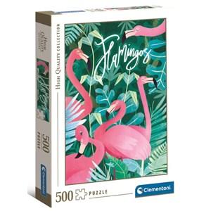 """Clementoni (35101) - """"Flamingoes"""" - 500 pièces"""