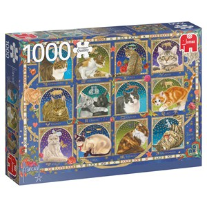 "Jumbo (18853) - Francien van Westering: ""Cat Horoscope"" - 1000 pièces"