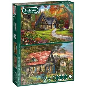"""Falcon (11294) - Dominic Davison: """"Woodland Cottages"""" - 1000 pièces"""