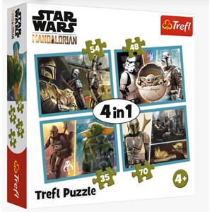 """Trefl (34377) - """"The Mandalorian and his World"""" - 35 48 54 70 pièces"""