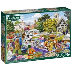 "Falcon (11301) - Trevor Mitchell: ""Village Church Car Boot Sale"" - 500 pièces"