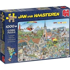 """Jumbo (20036) - Jan van Haasteren: """"Island Retreat"""" - 1000 pièces"""