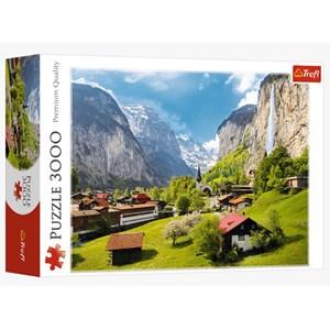"""Trefl (33076) - """"Lauterbrunnen, Switzerland"""" - 3000 pièces"""