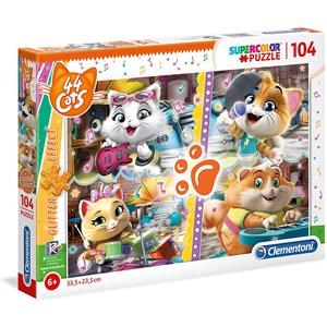 """Clementoni (27539) - """"44 Cats"""" - 104 pièces"""