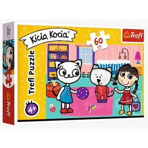 """Trefl (17343) - """"Kittykit with friends"""" - 60 pièces"""