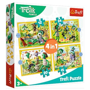 "Trefl (34358) - ""Treflik's common fun"" - 12 15 20 24 pièces"