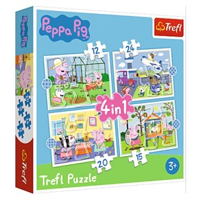 """Trefl (34359) - """"Holiday reccolection, Peppa Pig"""" - 12 15 20 24 pièces"""