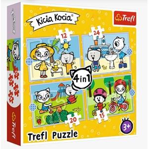 "Trefl (34372) - ""Kittykit day"" - 12 15 20 24 pièces"