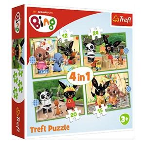 """Trefl (34357) - """"Bing's Happy Day"""" - 12 15 20 24 pièces"""