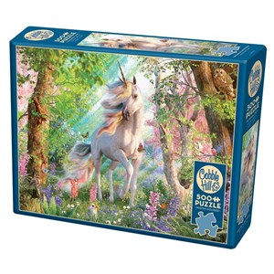 """Cobble Hill (85084) - David Penfound: """"Unicorn in the Woods"""" - 500 pièces"""